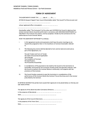 Form of Agreement.pdf - Newport Pagnell Town Council - newport-pagnell org