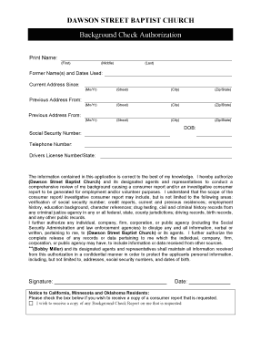 fair credit reporting act disclosure and authorization form