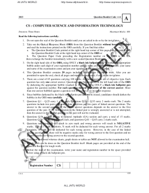 jntu transcripts online - Edit & Fill Out Online Templates