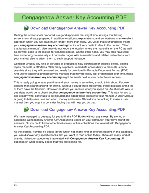 cengage answer key accounting Cengage Accounting Answer Key - Fill Online, Printable, Fillable ...