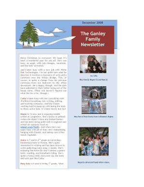 Printable Family Christmas Newsletter Edit Fill Out Download