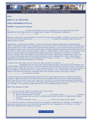 Appendix IIIB-1 Sample Letter from Employer to Employees DATE - osha