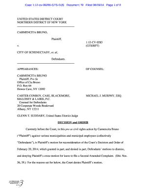 Fillable Online gpo Case 1:12cv00285GTSDJS Document 70 Filed