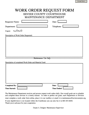 Independent Maintenance Work Order Forms Free Printable on free printable order forms for maintenance, free printable work order template, free printable purchase order form, print work order forms, free printable order sheets, blank work order forms, shop work order forms, service work order forms, repair work order forms,
