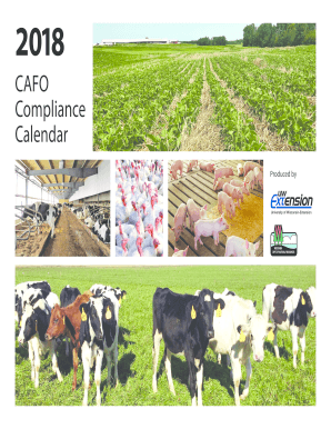 CAFO Compliance Calendar PDF - Wisconsin Department of ... - dnr wi