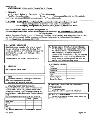 Sample Tenancy Agreement Landlord And Tenant Edit Print Fill Out