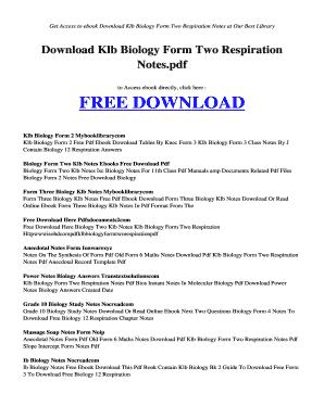 Klb Biology Book 2 Pdf - Fill Online, Printable, Fillable
