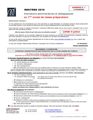 Fillable Online Montaigne Bordeaux Free Lettre De Motivation Cpge