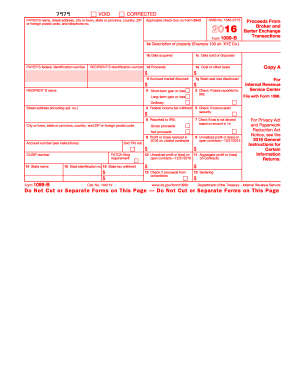 2016 Form IRS 1099-B Fill Online, Printable, Fillable, Blank ...