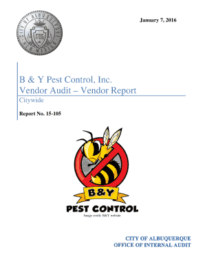 pest control audit report - Forms & Document Templates to