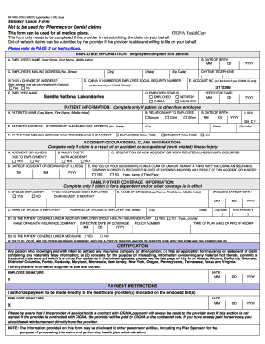cigna medical claim form for providers to Download in Word ...