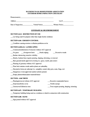 Exterior BHome Inspection Checklistb