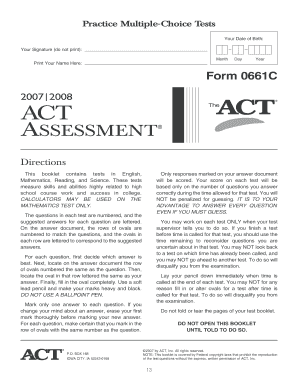 20 Printable act practice test science Forms and Templates