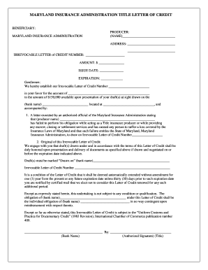Printable letter of administration maryland   Edit, Fill Out