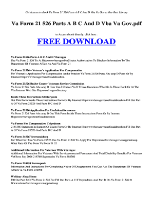Bva form 21 526 partsb abc and d vba va gov pdf - Books Collection bb - monita esy