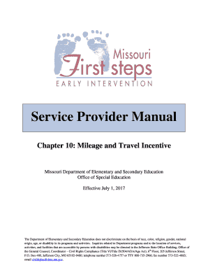 fillable online first stepsprovider mileage guidance instructions