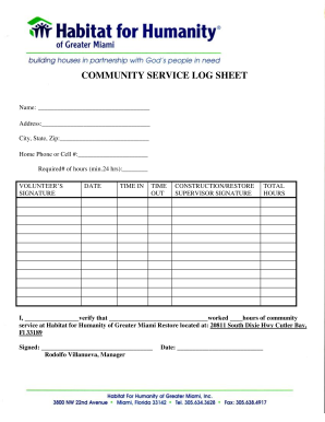 Community Service Log Sheet For Court - Fill Online ... |Community Service Log Sheet For Court