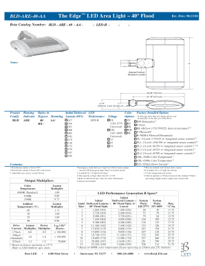 Fillable Online Bld Are 40 Aa Led Spec Sheet Template Mix