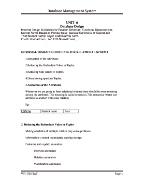 Guidelines For Relational Schema Fill Online Printable Fillable Blank Pdffiller