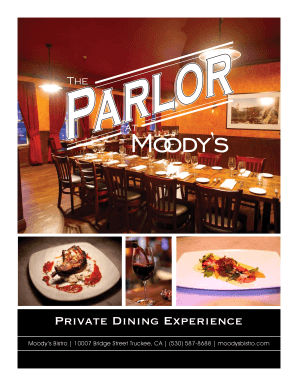 Private Dining Brochure (pdf) - Moody's Bistro, Bar & Beats