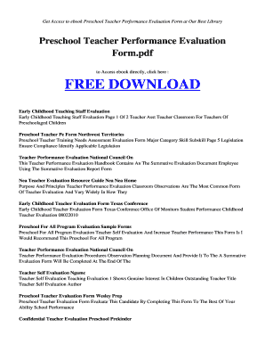 image regarding Preschool Assessment Forms Free Printable referred to as 11 Printable trainer examination type document Templates