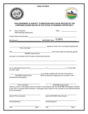 6 Printable Sample Letter Of Intent To Do Business With A Company