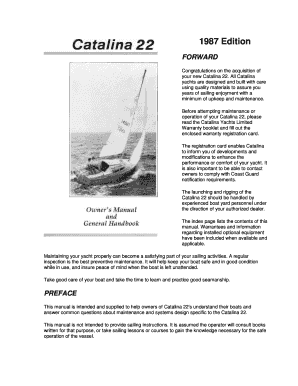 Fillable Online 1987 Edition catalina 22 owners manualdoc
