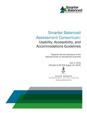 Fillable Online sd portal airast Smarter Balanced Assessment