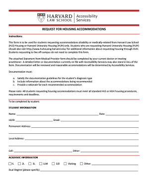 Edit print download form templates in pdf word sample letter requesting permission to visit school request for housing accommodations harvard law school spiritdancerdesigns Gallery