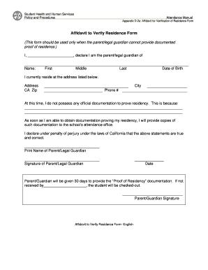 Fillable affidavit of residence form edit online download forms baffidavitb to verify residence bformb altavistaventures Choice Image