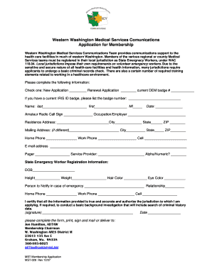 Western Washington Medical Services Comunications Application ...