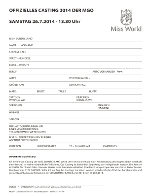 Editable casting call email template fill print download law offizielles casting 2014 der mgo samstag emag ag pronofoot35fo Choice Image