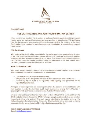 Bank Audit Confirmation Letter