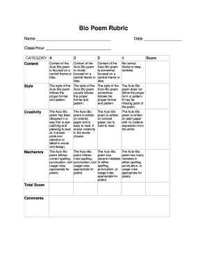 photograph regarding Printable Biographies for 3rd Graders identified as biography rubric 3rd quality - Fill Out On-line, Down load