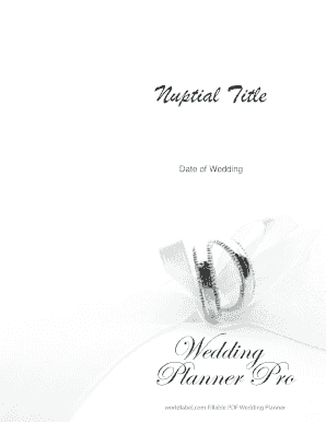 Download the free wedding planner pro pdf - Worldlabel.com