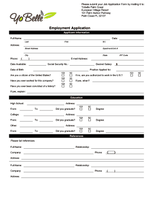 6 printable free employment application forms and templates