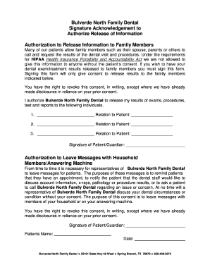 Hipaa authorization form for family members - Fill Out Online ...