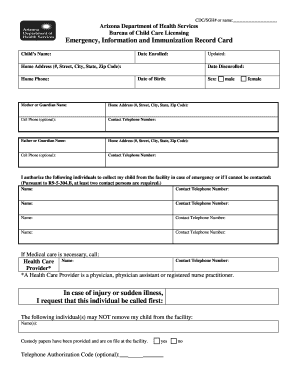 Blank Immunization Record Card Forms and Templates - Fillable ...