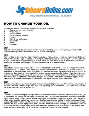 HOW TO CHANGE YOUR OIL - Inboard Online