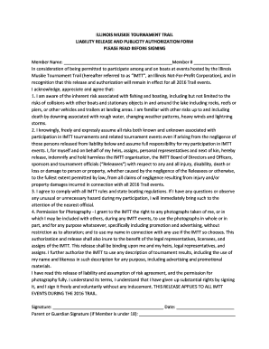 2016 IMTT Liability Release Form   Illinois Muskie Tournament Trail