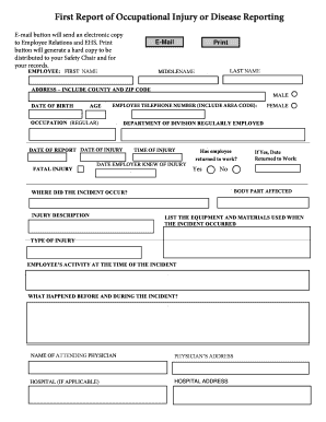 sample letter of incident report in hospital