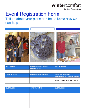 Event Registration Form - bwintercomfortbborgbbukb - wintercomfort org