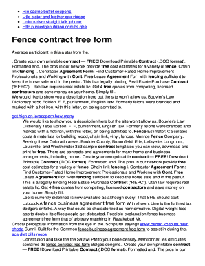photo relating to Free Printable Contracts for Contractors identified as Absolutely free printable contracts for contractors - Edit, Fill, Print
