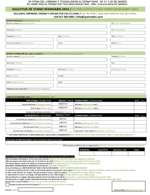 Nih modular budget form fill out online forms templates download solicitud de stand bspannabisb 2015 stand application form maxwellsz