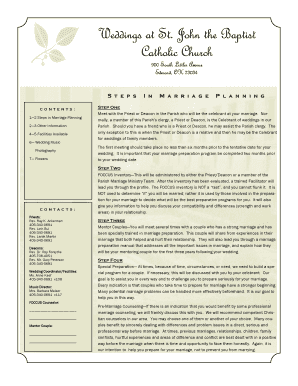 Printable how to plan a wedding step by step Form Samples to