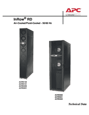 InRow RD Technical Data Manual - APC