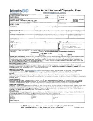 Fillable Online BFingerprintb Form2 IdentoGo NJ Universalbpdfb ...