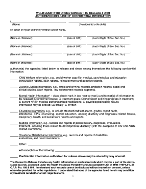 31 printable general consent template forms fillable samples in