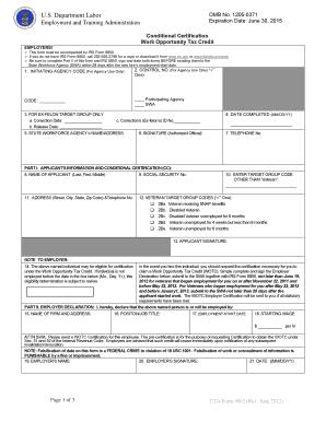 Fillable Online wdr doleta ETA Form 9062, Conditional ...