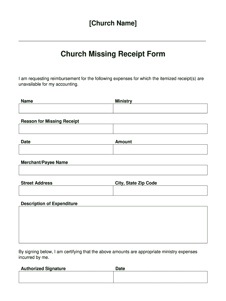 receipt form template database
